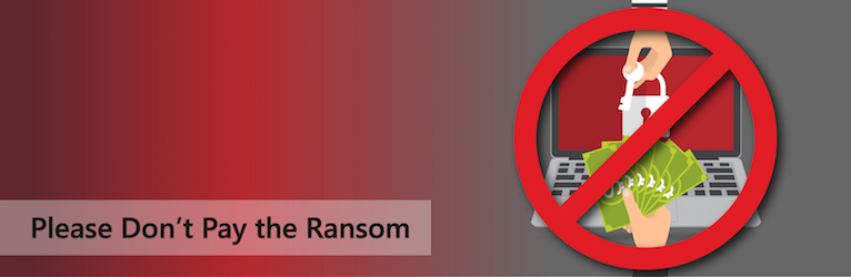 Don't pay to ransomeware