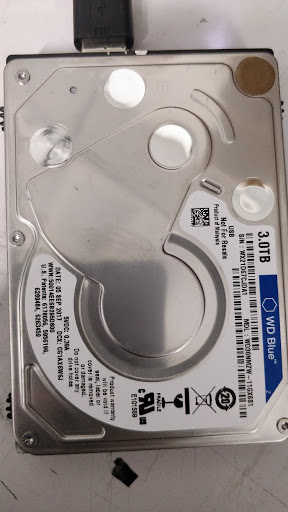 Dropped WD Blue external hard drive recovery